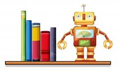 Robot w books