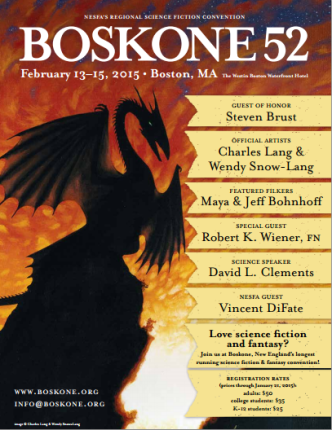 Boskone 52 Progress Report flier image