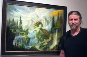 Bob Eggleton with Dragon