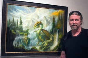 Bob Eggleton with Dragon